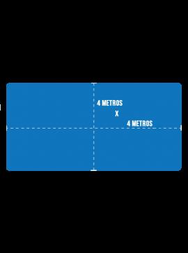Capa de Proteção para Piscina + Kit Instalação - Tamanho 4x4m