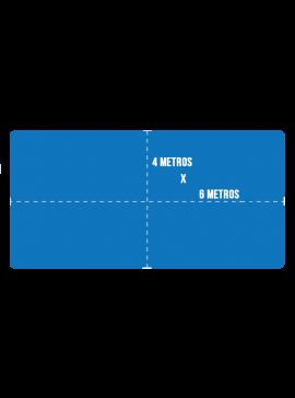 Capa de Proteção para Piscina + Kit Instalação - Tamanho 6x4m