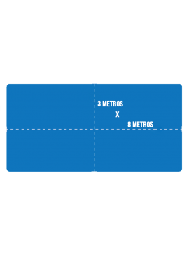 Capa de Proteção para Piscina + Kit Instalação - Tamanho 8x3m