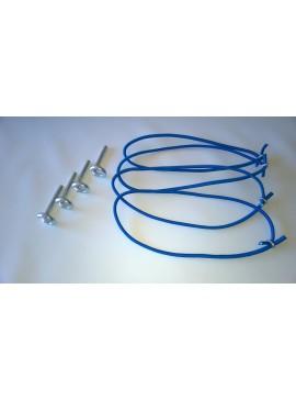 Kit Extensor Flexível e Pinos Zincados para Fixar Capa de Piscina (Embalagem com 10 Unidades)